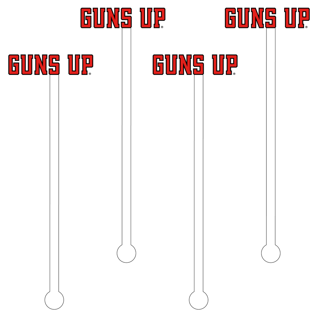 GUNS UP ACRYLIC STIR STICKS