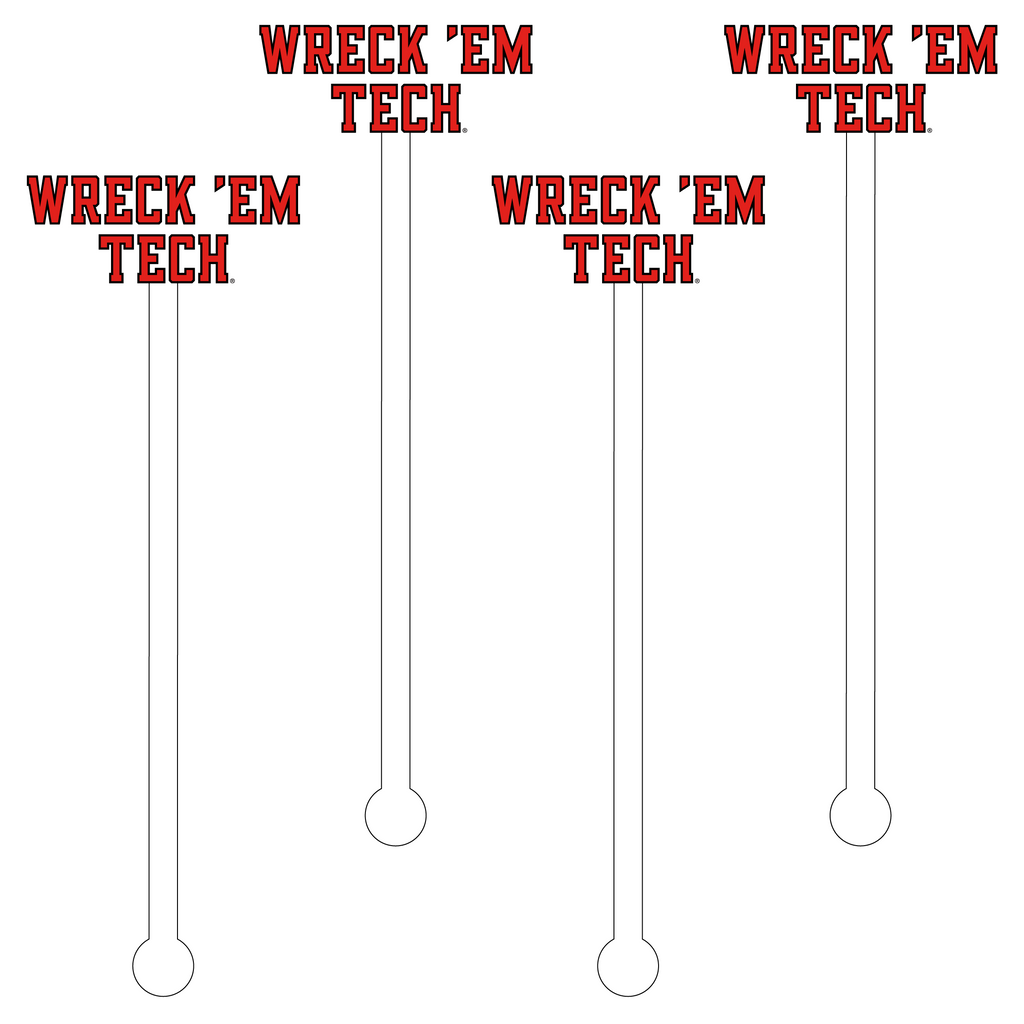 WRECK 'EM TECH ACRYLIC STIR STICKS