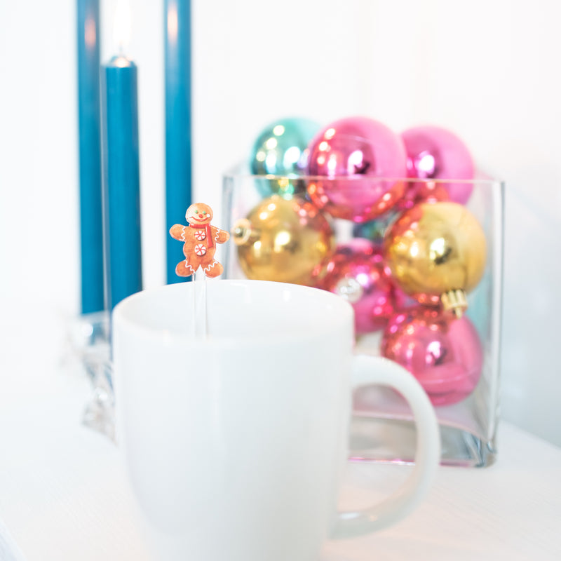 GINGERBREAD MAN ACRYLIC STIR STICKS