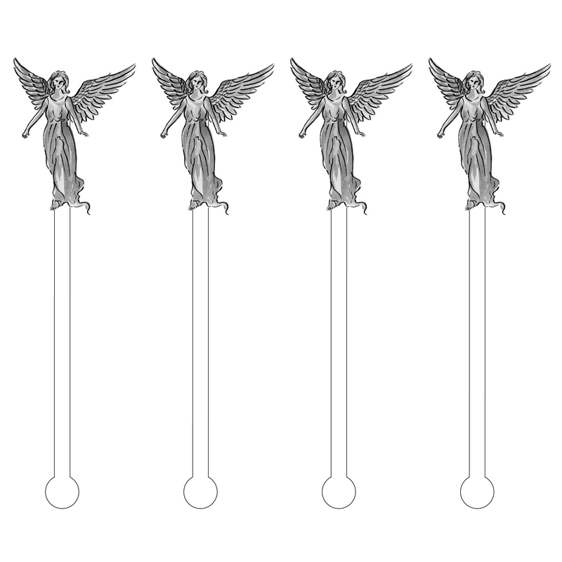 GUARDIAN ANGEL ACRYLIC STIR STICKS