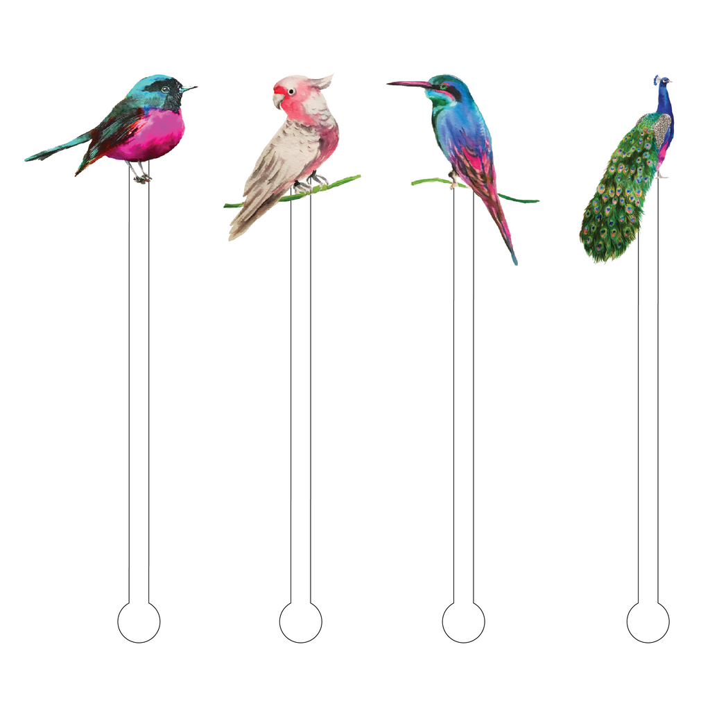 BIRDS COMBO ACRYLIC STIR STICKS