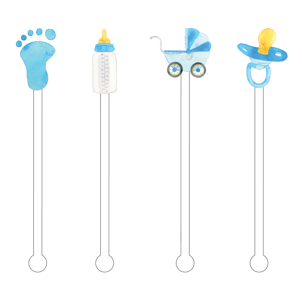 BABY BOY ACRYLIC STIR STICKS COMBO