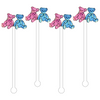 GENDER REVEAL TEDDY BEARS ACRYLIC STIR STICKS