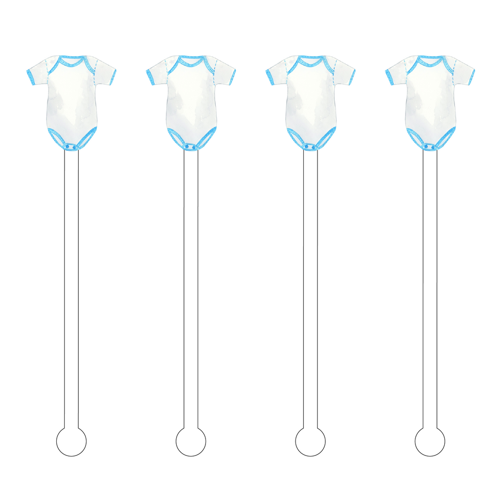 BLUE ONESIE ACRYLIC STIR STICKS
