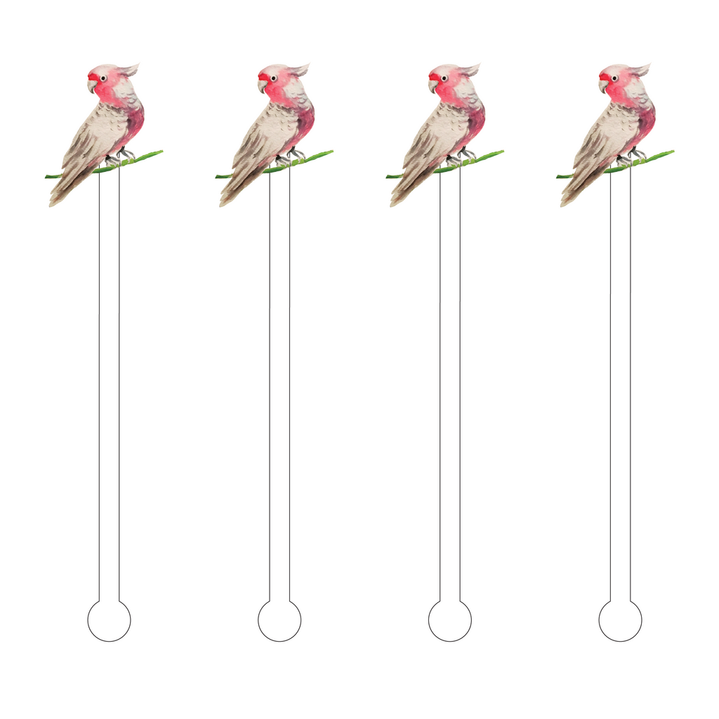 WHITE PARAKEET ACRYLIC STIR STICKS