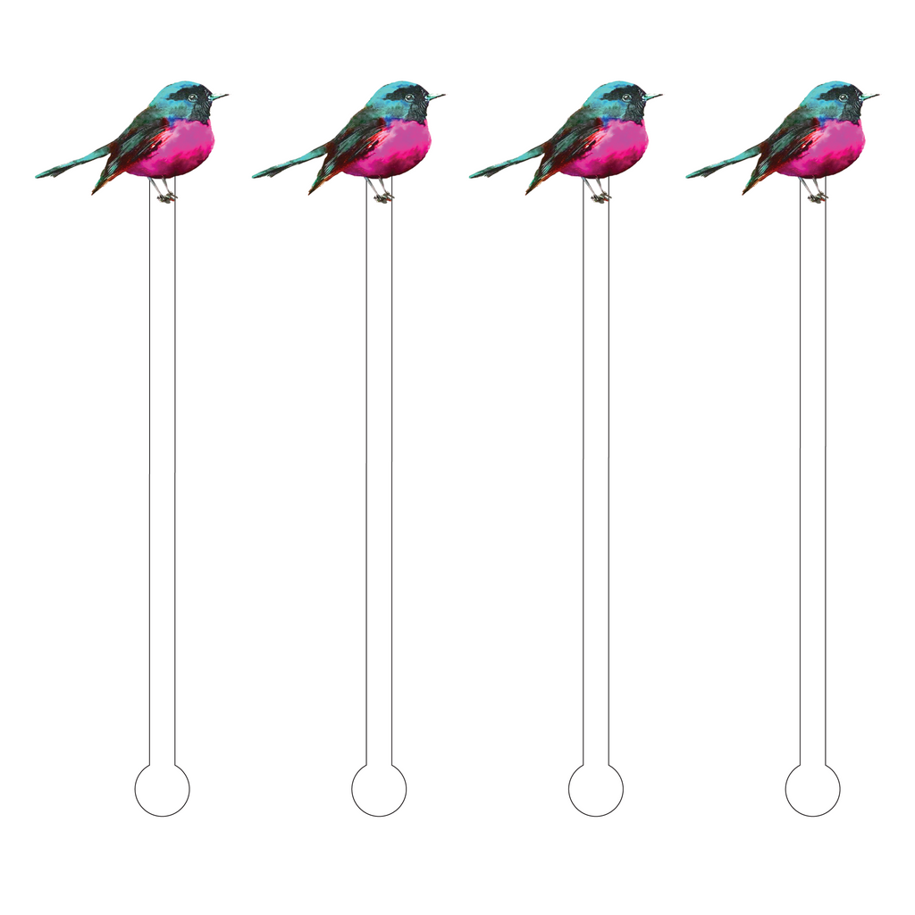 FUCHSIA SPARROW ACRYLIC STIR STICKS