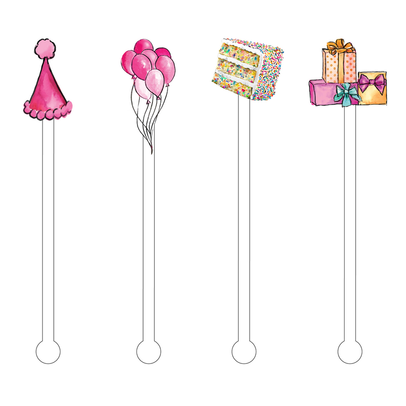 HAPPY BIRTHDAY ACRYLIC STIR STICKS COMBO