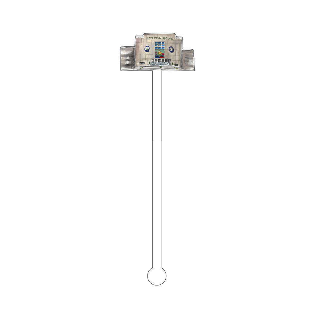 COTTON BOWL ACRYLIC STIR STICK