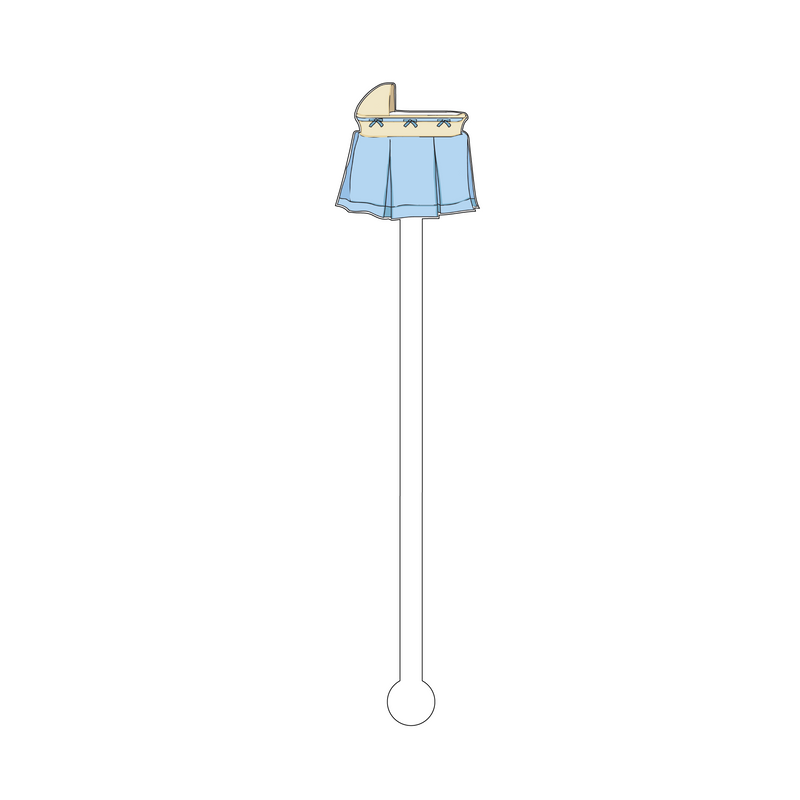 BLUE BASSINET ACRYLIC STIR STICK