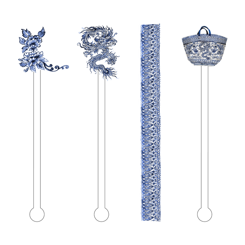 DRAGON CHINOIS ACRYLIC STIR STICKS COMBO
