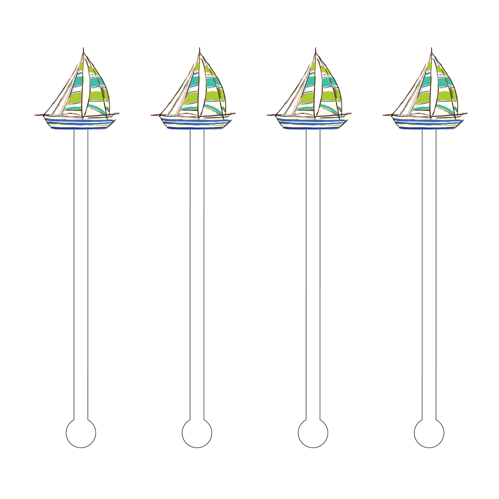 SAILBOAT ACRYLIC STIR STICKS