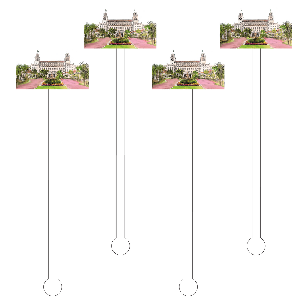 THE BREAKERS RESORT ACRYLIC STIR STICKS