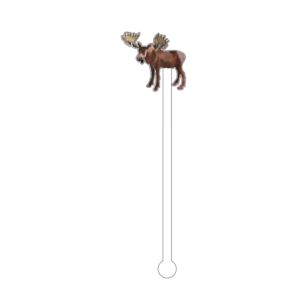 MOOSE ACRYLIC STIR STICK