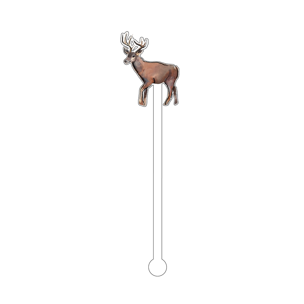 DEER ACRYLIC STIR STICK