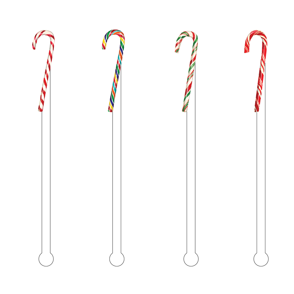CANDY CANES ACRYLIC STIR STICKS COMBO