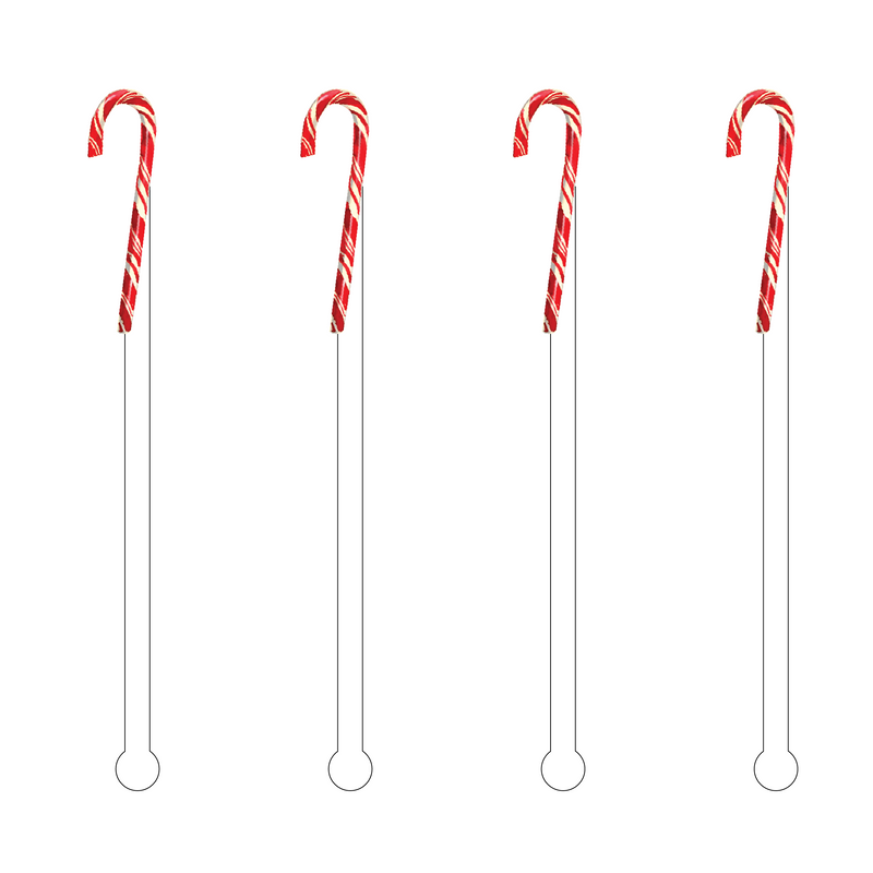 PEPPERMINT CANDY CANE ACYLIC STIR STICKS