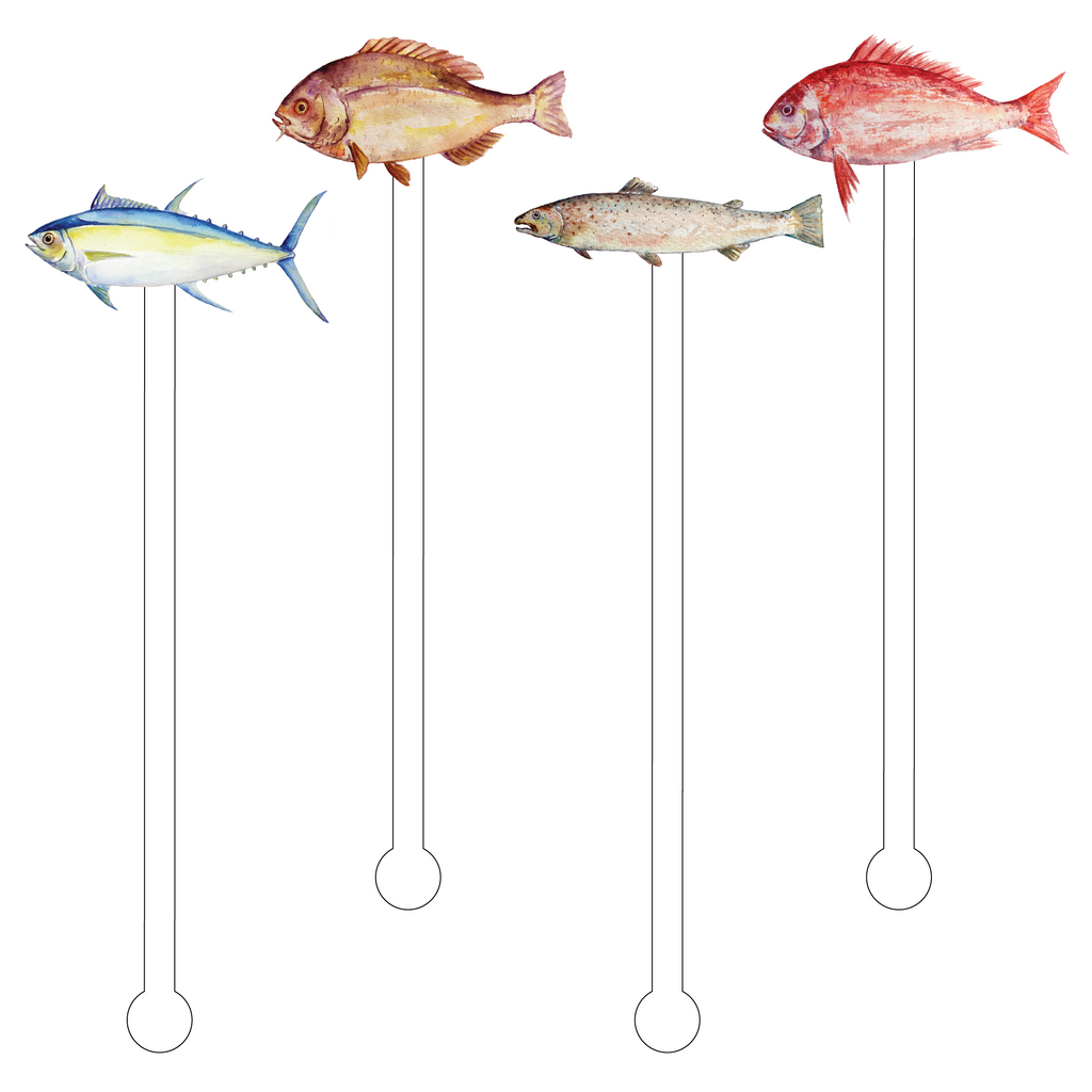 FISH ACRYLIC STIR STICKS COMBO