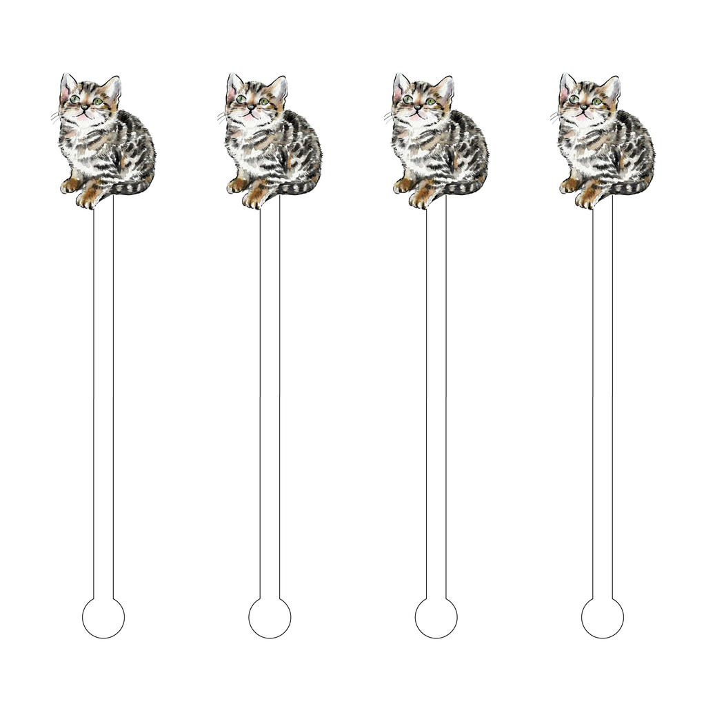 BENGAL CAT ACRYLIC STIR STICKS