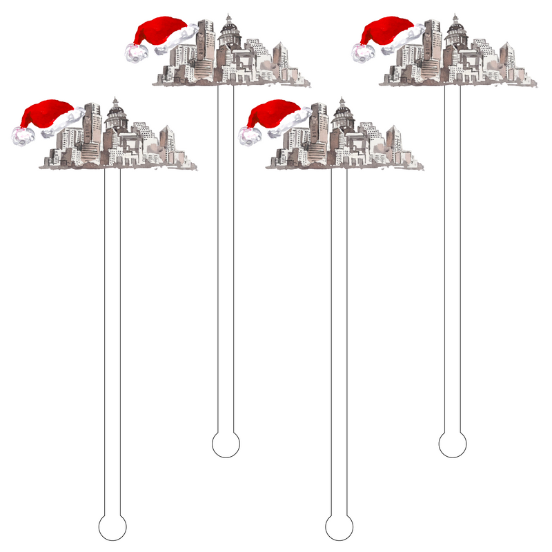 AUSTIN CHRISTMAS ACRYLIC STIR STICKS