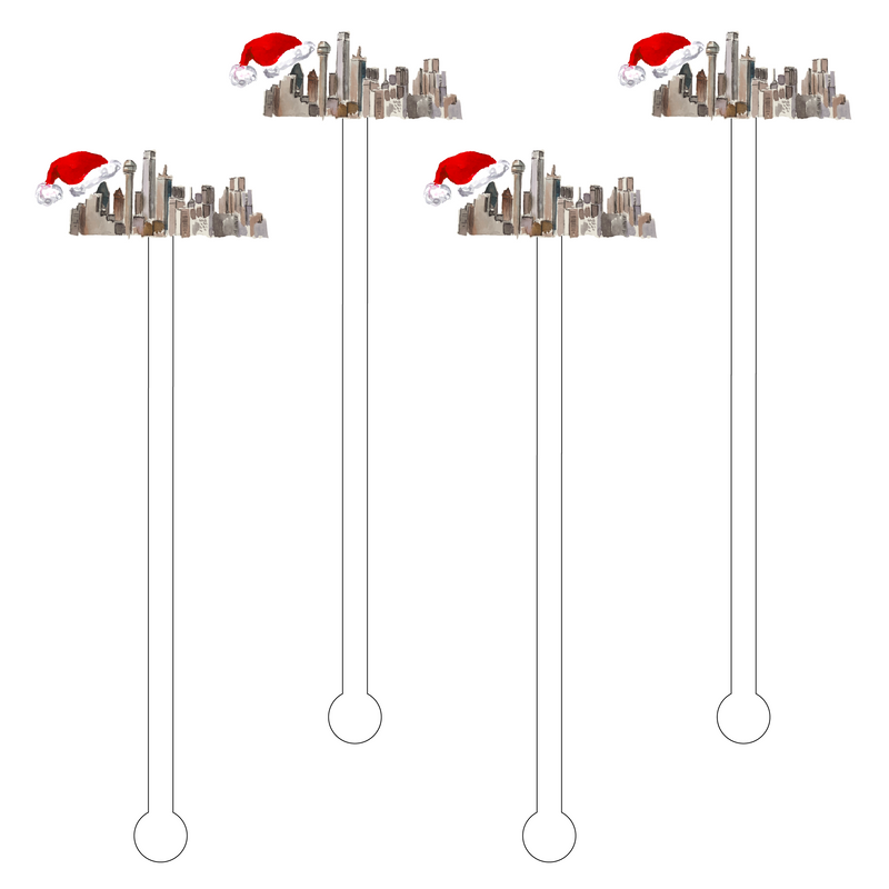 DALLAS CHRISTMAS ACRYLIC STIR STICKS