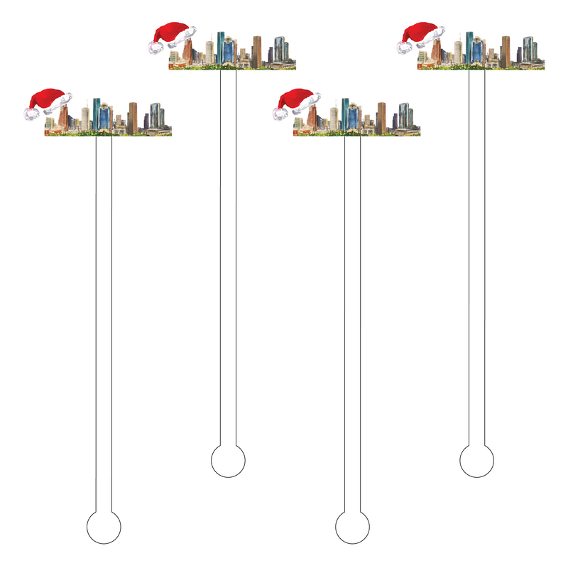 HOUSTON CHRISTMAS ACRYLIC STIR STICKS