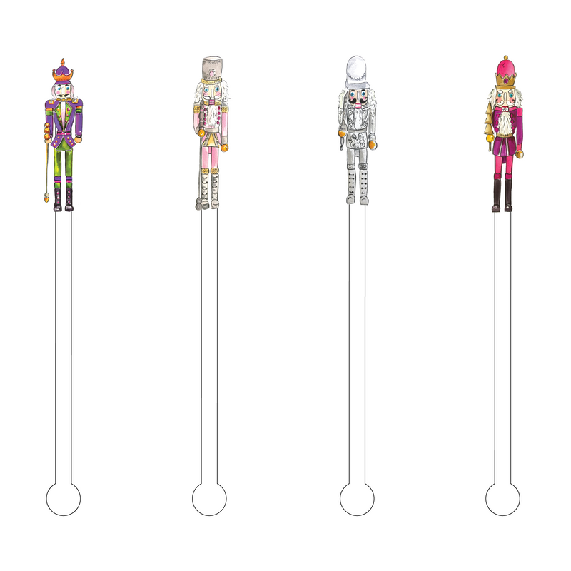 NUTCRACKERS ACRYLIC STIR STICKS COMBO