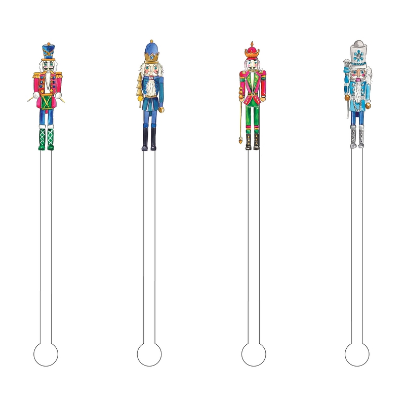 MR. NUTCRACKERS ACRYLIC STIR STICKS COMBO