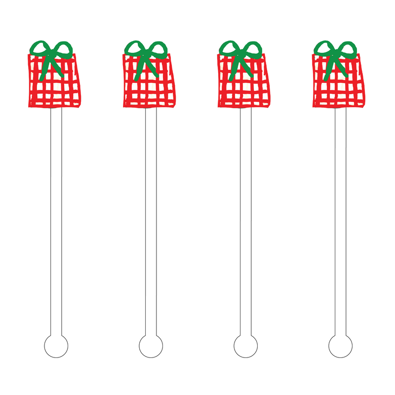 PREPPY PRESENT ACRYLIC STIR STICKS