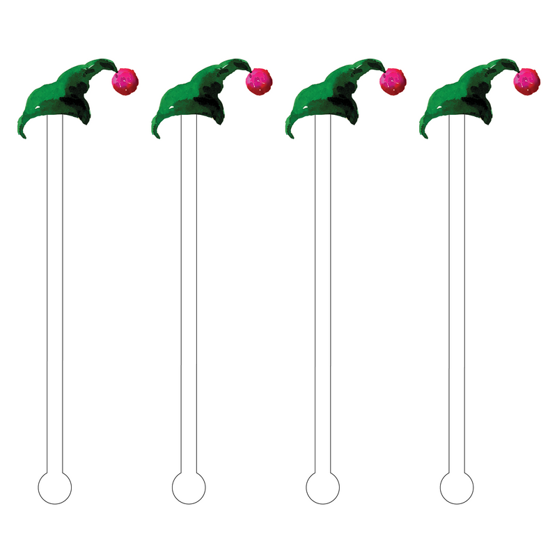 ELF HAT ACRYLIC STIR STICKS