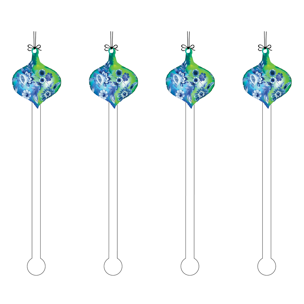 AVANT FLOWER ORNAMENT ACRYLIC STIR STICKS
