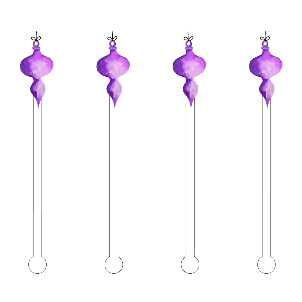 ORCHID OMBRE ORNAMENT ACRYLIC STIR STICKS