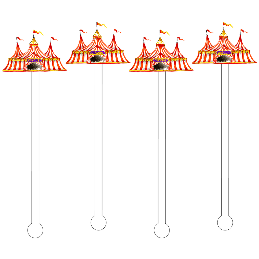 CIRCUS TENT ACRYLIC STIR STICKS