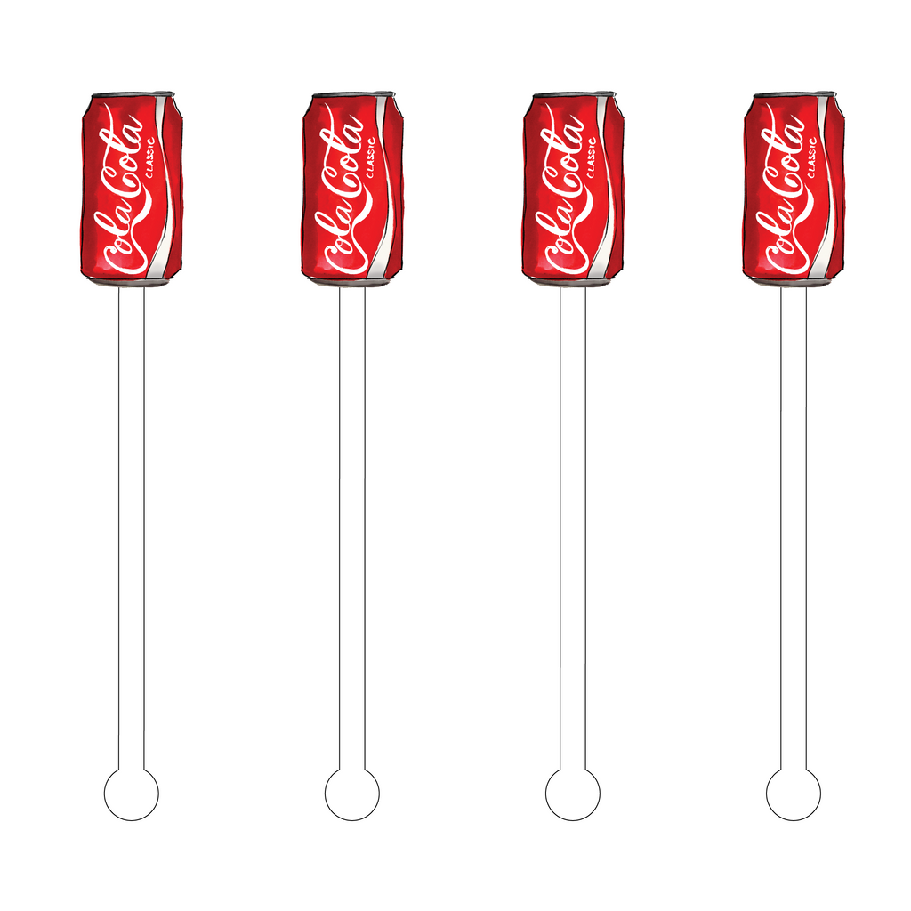 COLA COLA ACRYLIC STIR STICKS
