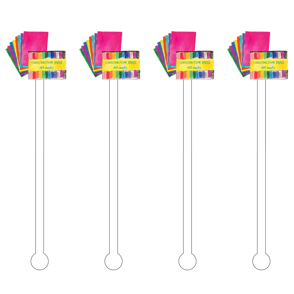 CONSTRUCTION PAPER ACRYLIC STIR STICKS