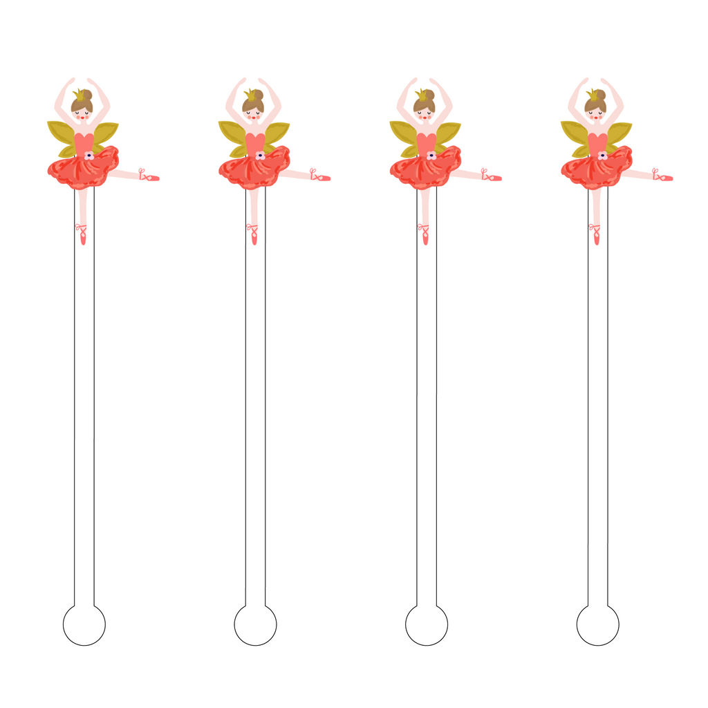 BALLET DANCER ACRYLIC STIR STICKS