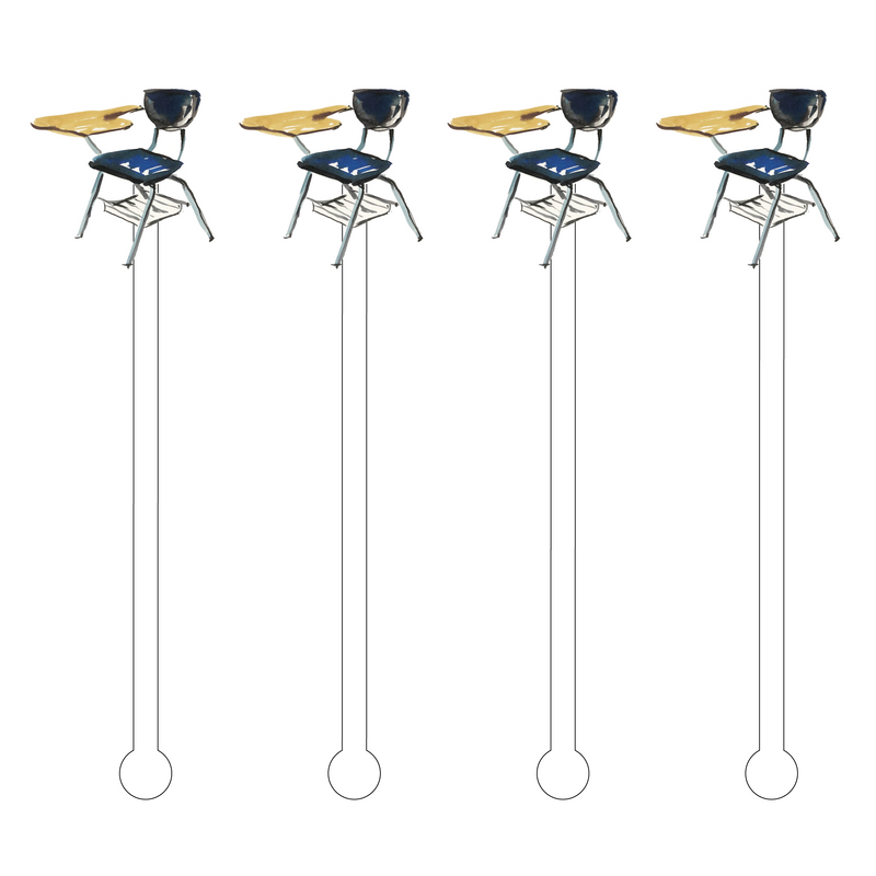 STUDENT DESK ACRYLIC STIR STICKS