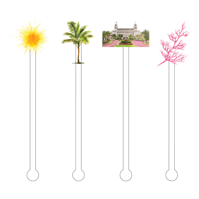 SUMMERTIME AT THE BREAKERS ACRYLIC STIR STICKS COMBO