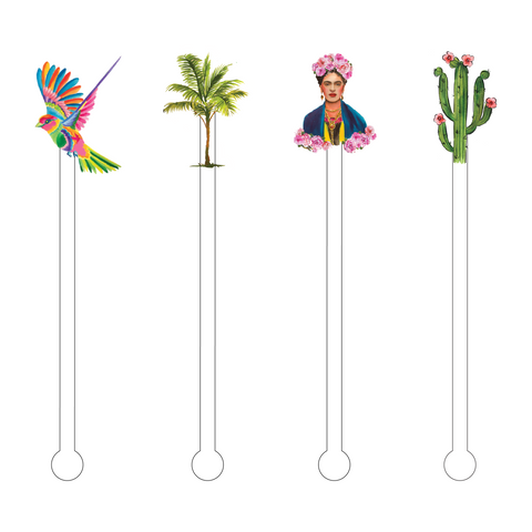 FIESTA SOMBRERO HAT ACRYLIC STIR STICKS