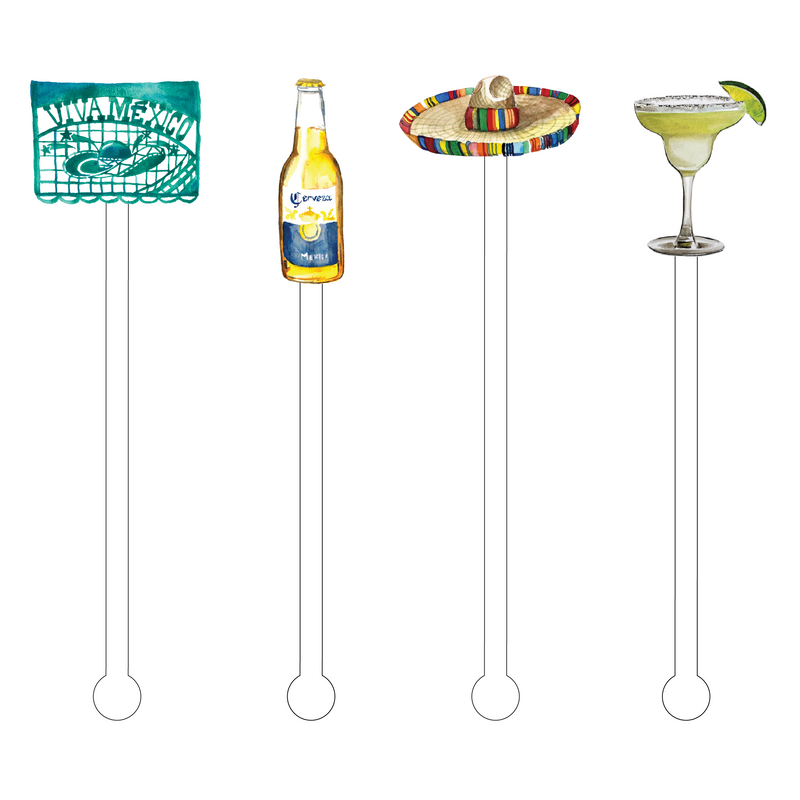 VIVA MEXICO COMBO ACRYLIC STIR STICKS