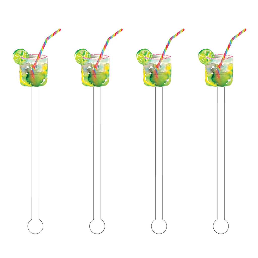 LIME QUENCHER COCKTAIL ACRYLIC STIR STICKS