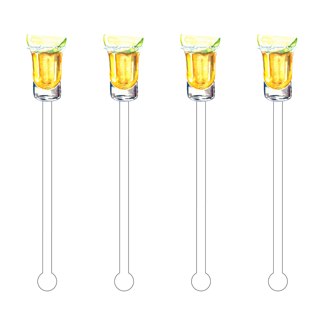 BEER WITH LIME ACRYLIC STIR STICKS