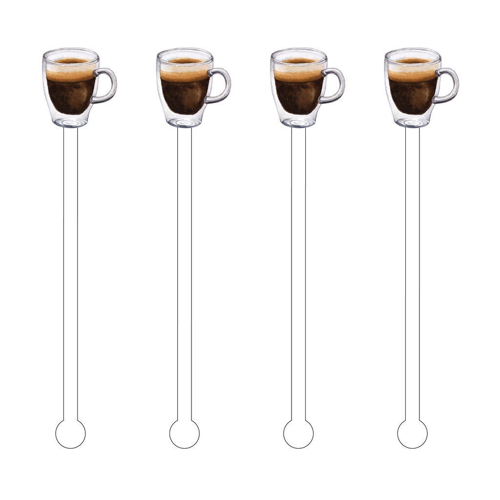 BLACK COFFEE ACRYLIC STIR STICKS