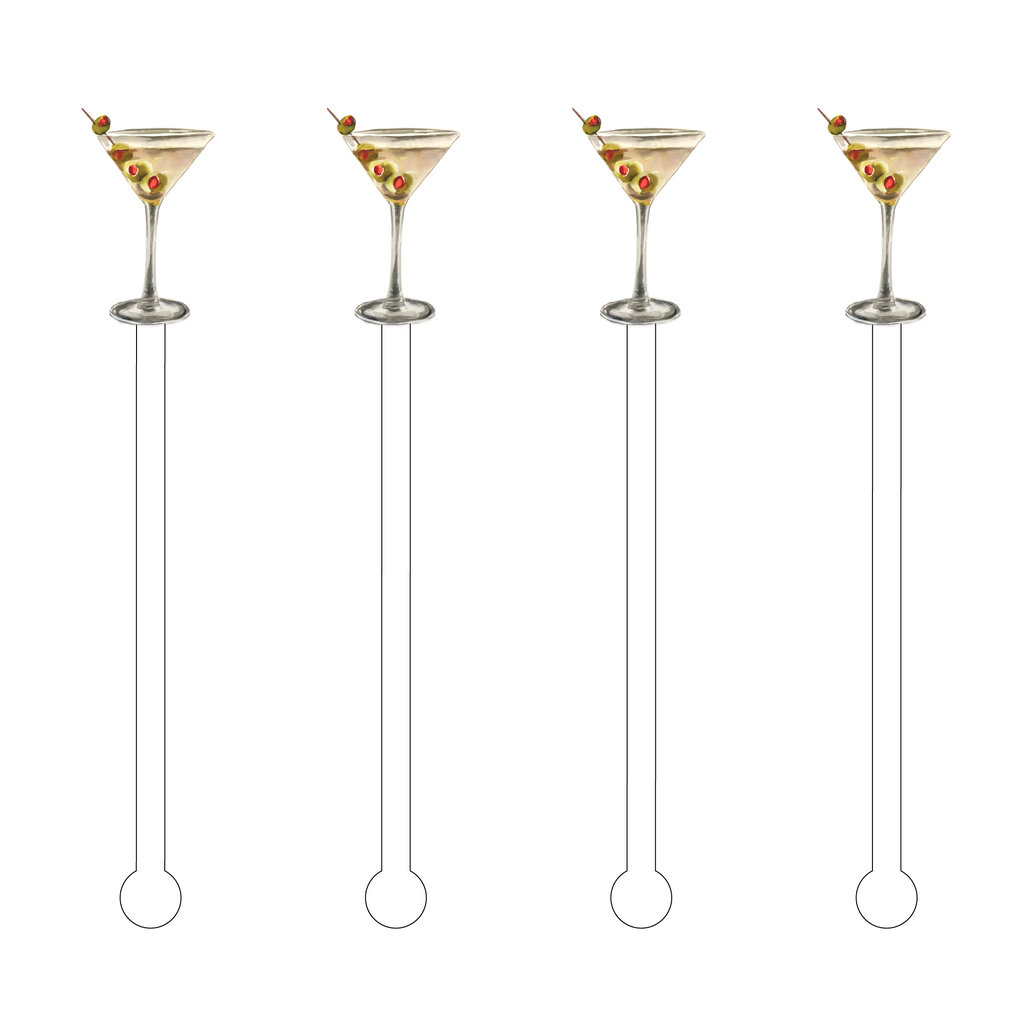 DIRTY MARTINI ACRYLIC STIR STICKS