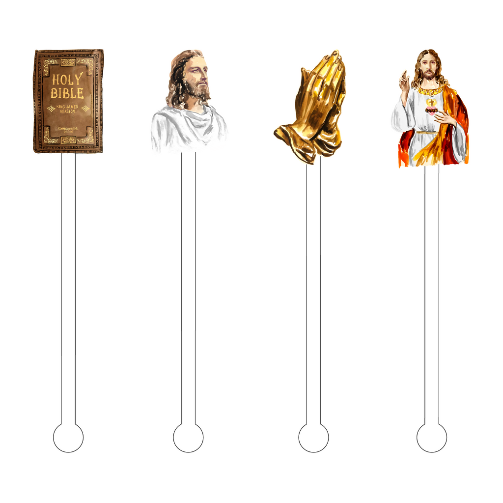 EASTER BLESSINGS ACRYLIC STIR STICKS COMBO