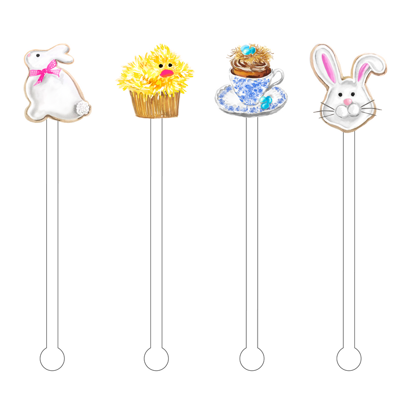 EASTER SWEETS ACRYLIC STIR STICKS COMBO