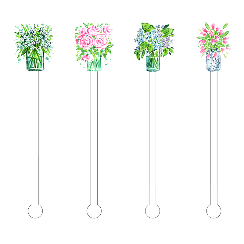 SENDING YOU FLOWERS ACRYLIC STIR STICKS COMBO