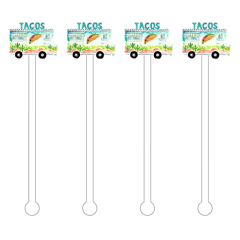 TACO TRUCK ACRYLIC STIR STICKS