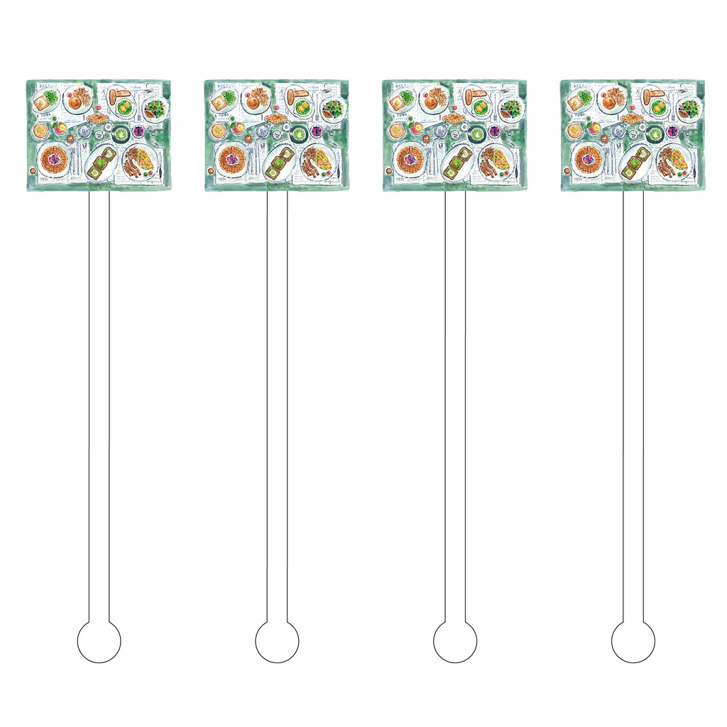 BRUNCHES OF BREAKFAST ACRYLIC STIR STICKS
