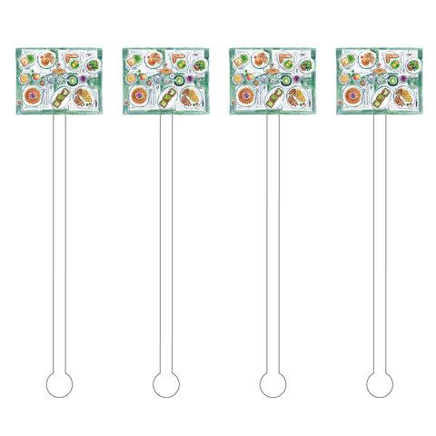DANCING TULIPS ARRANGEMENT ACRYLIC STIR STICKS*