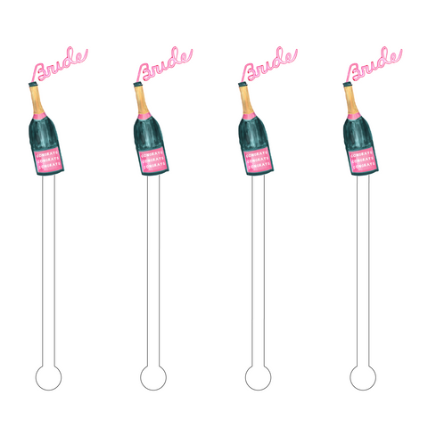 CHAMPAGNE & CHILL ACRYLIC STIR STICKS